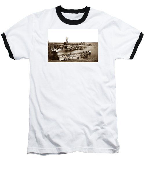 Lovers Point Beach And Old Wooden Pier Pacific Grove August 18 1900 Baseball T-Shirt