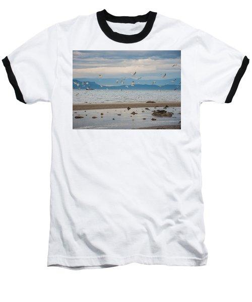 Herring Season  Baseball T-Shirt by Roxy Hurtubise