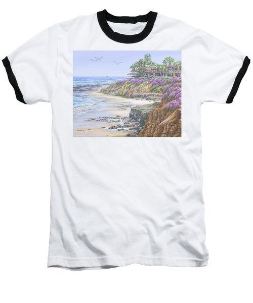 Low Tide Solana Beach Baseball T-Shirt