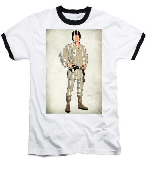 Luke Skywalker - Mark Hamill  Baseball T-Shirt by Ayse Deniz