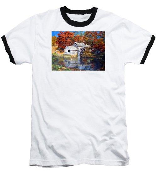 Mabry Mill Blue Ridge Virginia Baseball T-Shirt