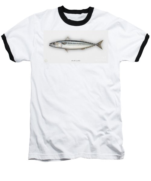 Mackerel Scomber Scombrus  - Maquereau - Caballa - Sarda - Scombro - Makrilli - Seafood Art Baseball T-Shirt