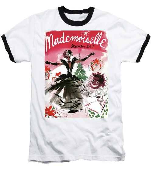 Mademoiselle Cover Featuring A Doll Surrounded Baseball T-Shirt