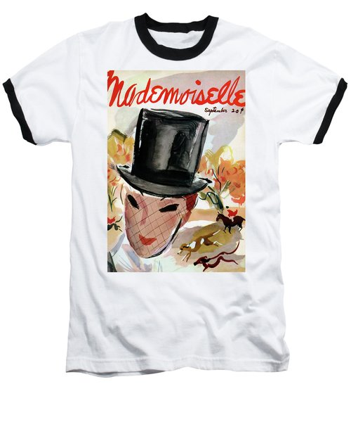 Mademoiselle Cover Featuring A Female Equestrian Baseball T-Shirt