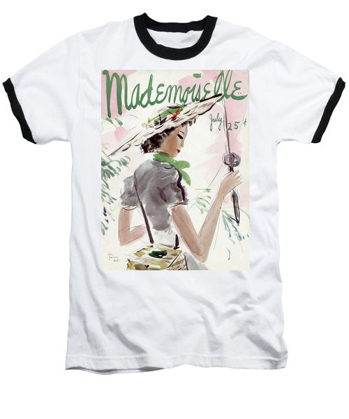 Mademoiselle Cover Featuring A Woman Holding Baseball T-Shirt