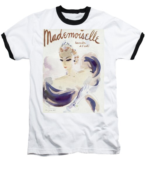 Mademoiselle Cover Featuring A Woman In A Gown Baseball T-Shirt