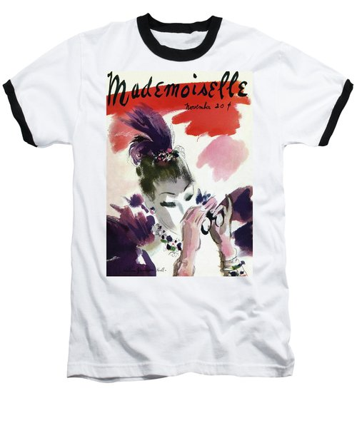 Mademoiselle Cover Featuring A Woman Looking Baseball T-Shirt