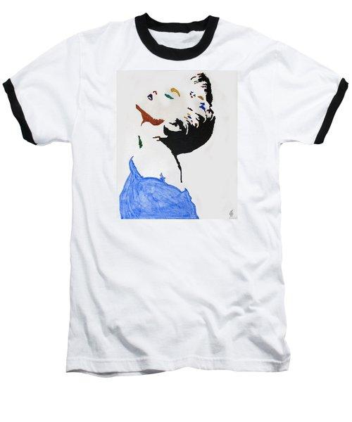 Madonna True Blue Baseball T-Shirt by Stormm Bradshaw
