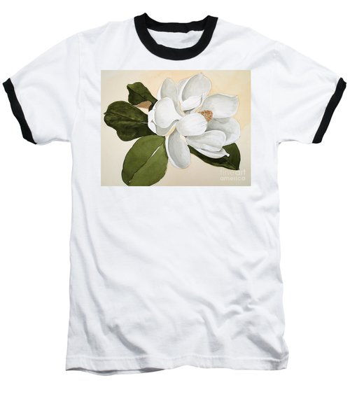 Baseball T-Shirt featuring the painting Magnolia Bloom by Nancy Kane Chapman