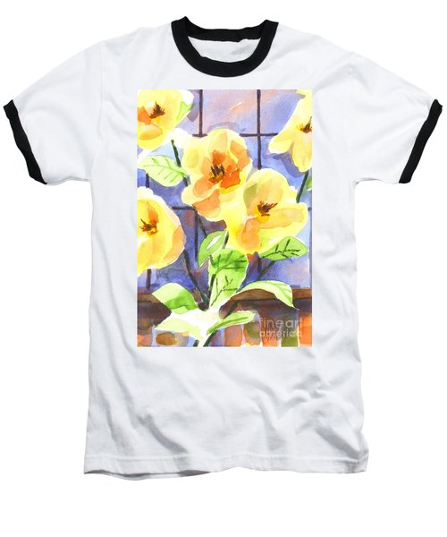 Baseball T-Shirt featuring the painting Magnolias by Kip DeVore