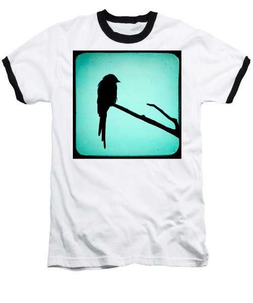 Baseball T-Shirt featuring the photograph Magpie Shrike Silhouette by Gary Heller