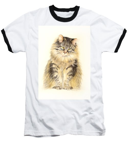 Maine Coon Cat Baseball T-Shirt