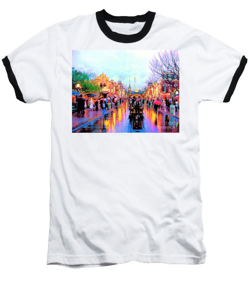 Baseball T-Shirt featuring the photograph Mainstreet Disneyland by David Lawson