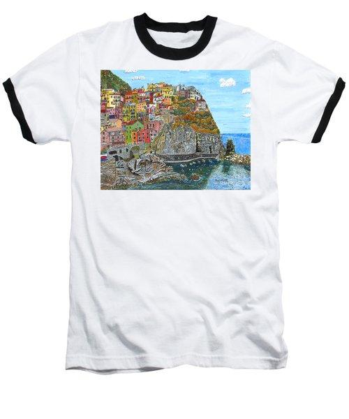 Manarola In Cinque Terra Baseball T-Shirt