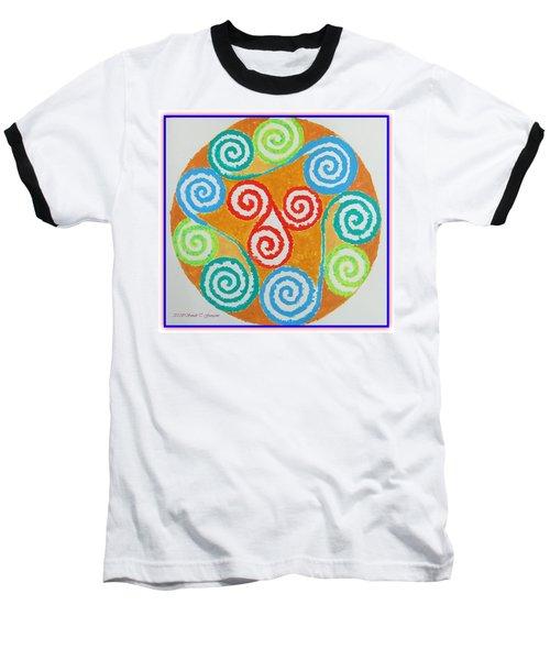 Baseball T-Shirt featuring the painting Mandala by Sonali Gangane