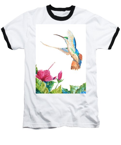 Mango Hummingbird Baseball T-Shirt