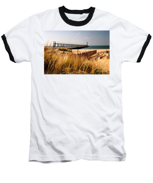 Manistee Lighthouse Baseball T-Shirt