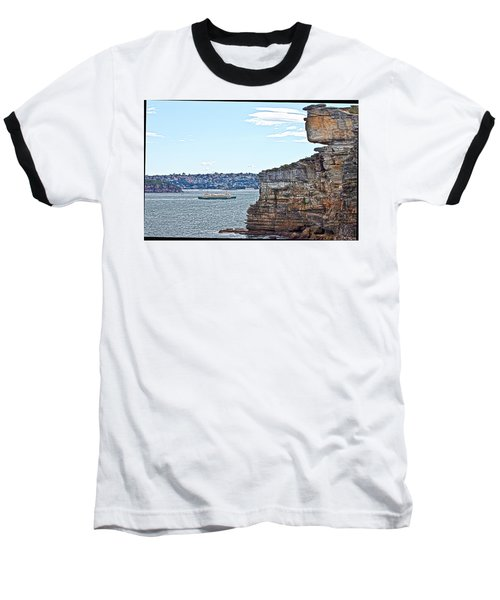 Manly Ferry Passing By  Baseball T-Shirt by Miroslava Jurcik