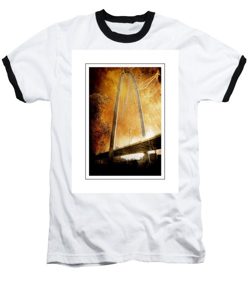 Margaret Hunt Hill Bridge Dallas Texas Baseball T-Shirt