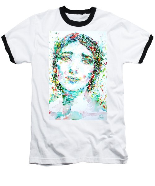Maria Callas - Watercolor Portrait.1 Baseball T-Shirt