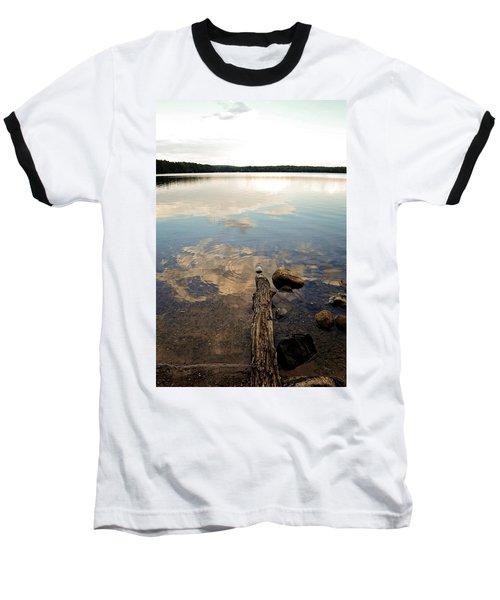 Marion Lake Reflections Baseball T-Shirt