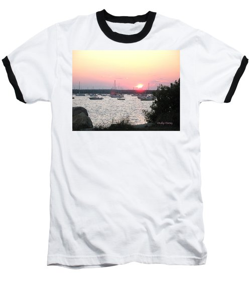 Baseball T-Shirt featuring the photograph Marion Massachusetts Bay by Kathy Barney