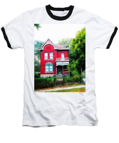 Baseball T-Shirt featuring the painting Market Street by Dave Luebbert