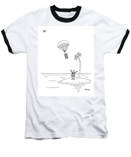 Marooned On An Island Baseball T-Shirt