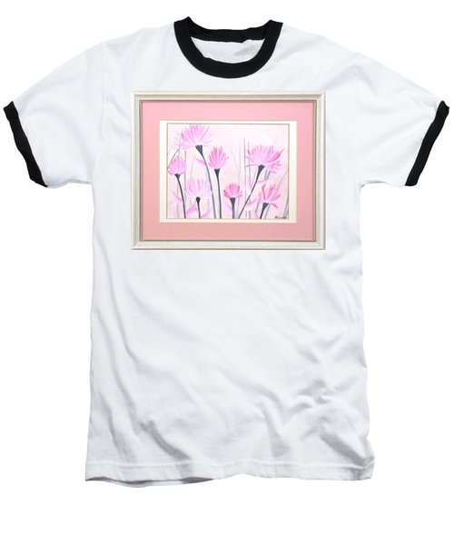 Marsh Flowers Baseball T-Shirt by Ron Davidson
