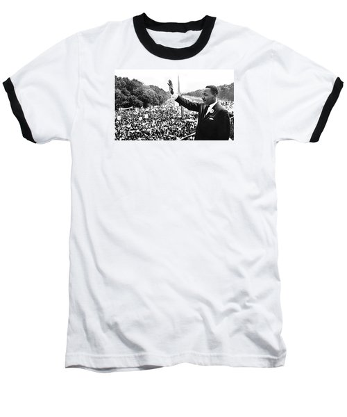 Martin Luther King The Great March On Washington Lincoln Memorial August 28 1963-2014 Baseball T-Shirt by David Lee Guss