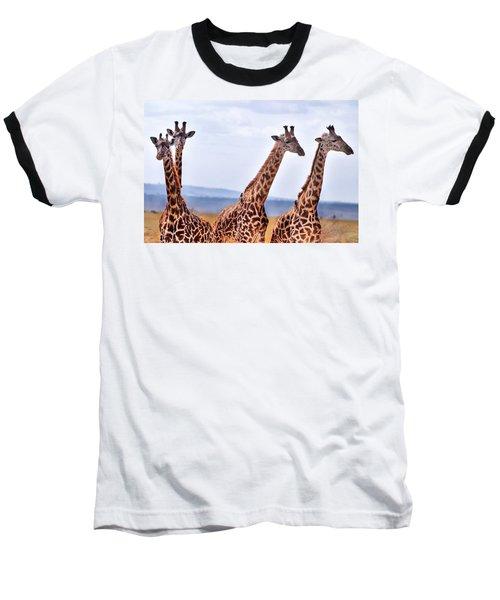Masai Giraffe Baseball T-Shirt