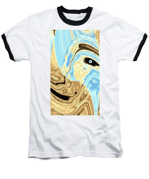 Masked- Man Abstract Baseball T-Shirt