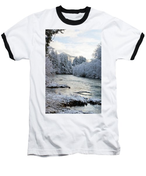 Baseball T-Shirt featuring the photograph Mckenzie River by Belinda Greb