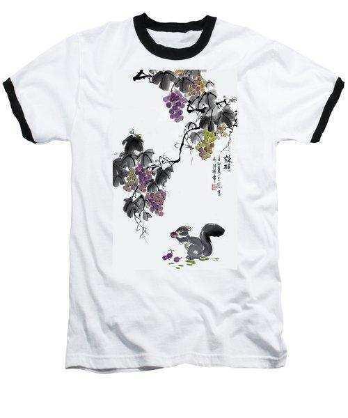 Melody Of Life II Baseball T-Shirt by Yufeng Wang