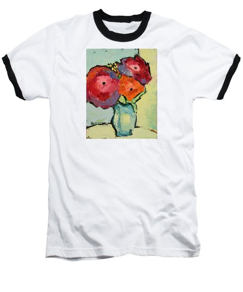 Baseball T-Shirt featuring the painting Melody Of Love by Becky Kim