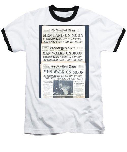 Men Walk On The Moon Baseball T-Shirt