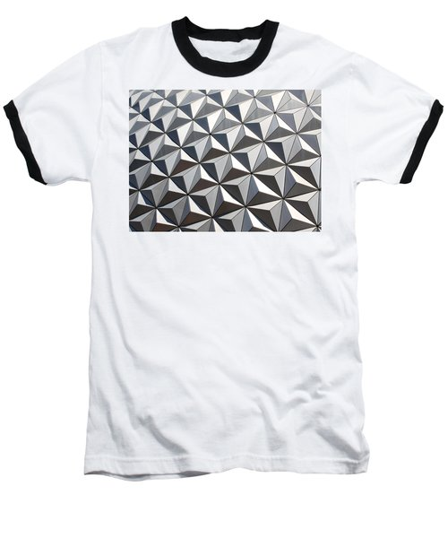 Baseball T-Shirt featuring the photograph Metal Geode by Chris Thomas