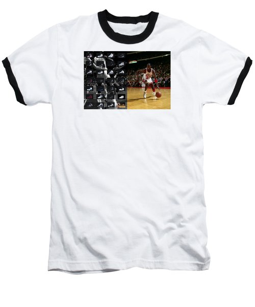 Michael Jordan Shoes Baseball T-Shirt by Joe Hamilton