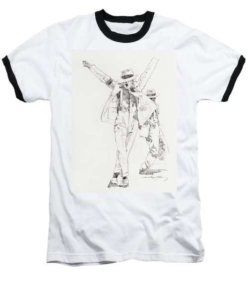 Michael Smooth Criminal Baseball T-Shirt
