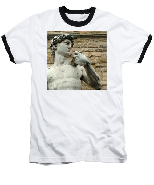 Michelangelo's David 1 Baseball T-Shirt by Ellen Henneke