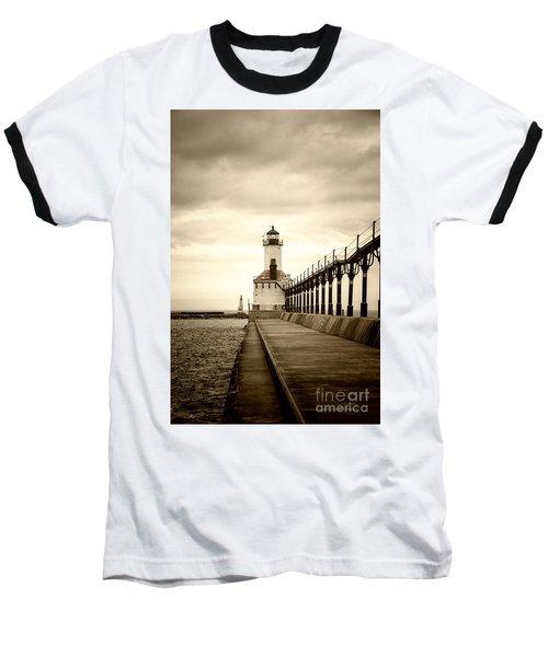 Michigan City Lighthouse Baseball T-Shirt