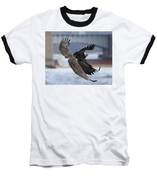Mid Air Fight Baseball T-Shirt