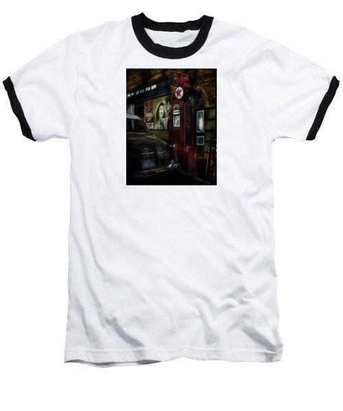 Midnight Fill Up Baseball T-Shirt by Gary Warnimont