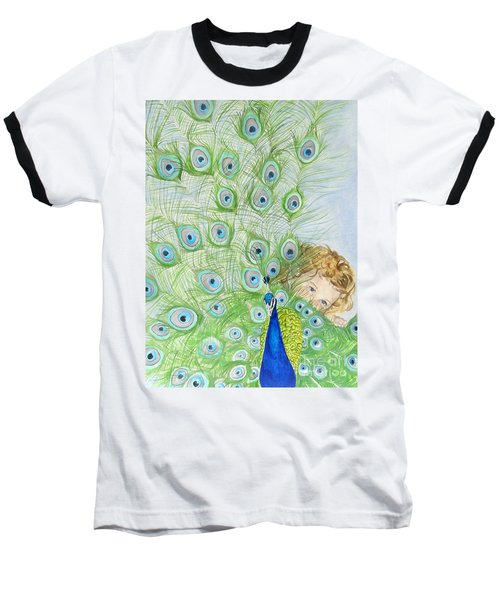 Mika And Peacock Baseball T-Shirt