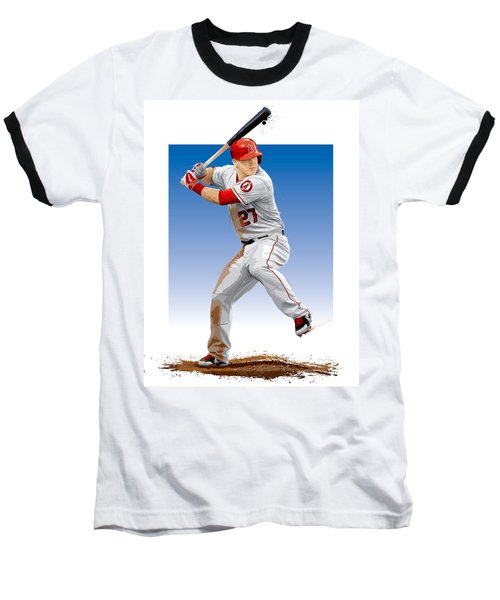 Mike Trout Baseball T-Shirt by Scott Weigner