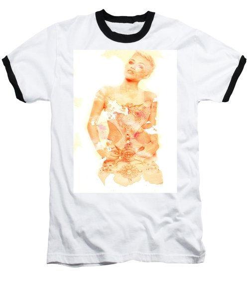 Baseball T-Shirt featuring the digital art Miley by Brian Reaves