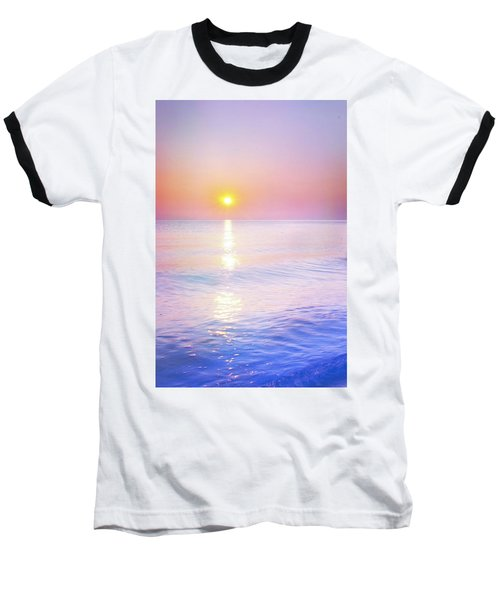 Baseball T-Shirt featuring the photograph Milky Sunset by Lilia D