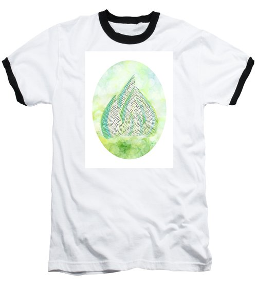 Baseball T-Shirt featuring the drawing Mini Forest Illustration by Lenny Carter