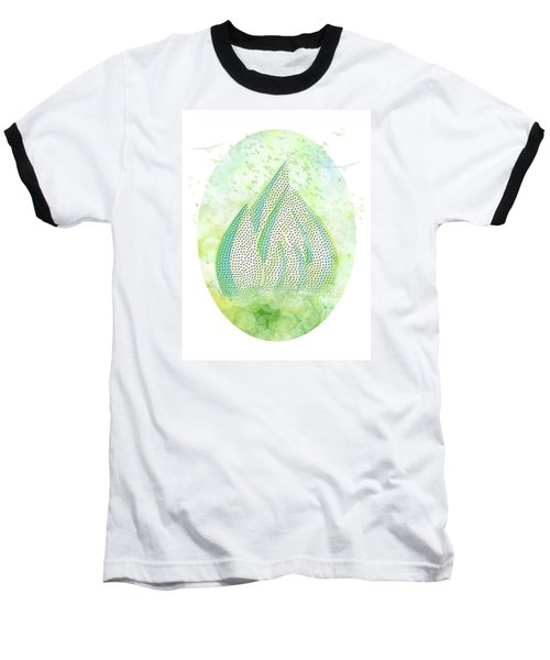 Baseball T-Shirt featuring the drawing Mini Forest With Birds In Flight - Illustration by Lenny Carter