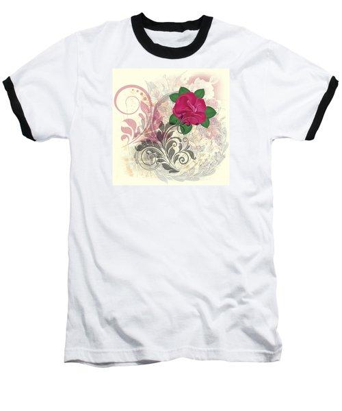 Mini Rose Flourish Baseball T-Shirt